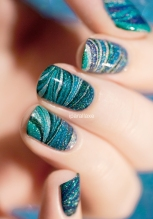 watermarble teal sur une base de gradient